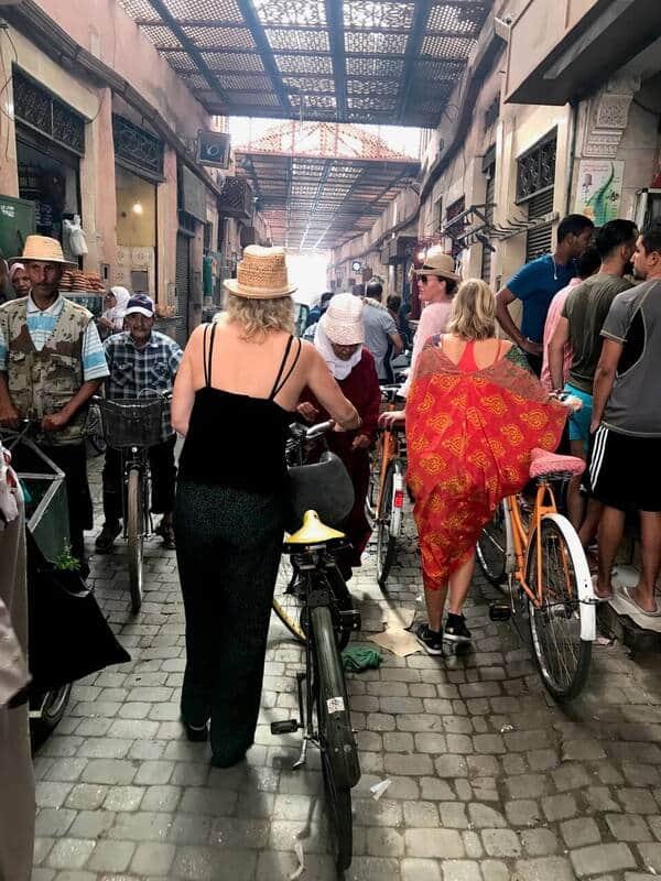 drukte fietsen medina